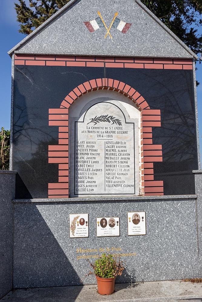 monument aux morts Saint-André